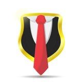 Schutz Suit Lawyer Shield schützt Vektor Stockfotos