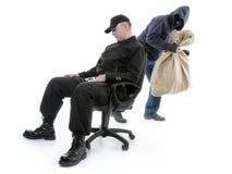 Schutz und Einbrecher Stockbild