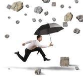 Schutz vom Sturm der Krise Stockfoto