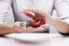 Schutz von Autos (Konzept) Stockfotografie