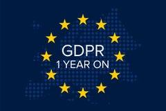 Schutz vorgeschriebenes GDPR General-Daten 1-jährig an lizenzfreie abbildung