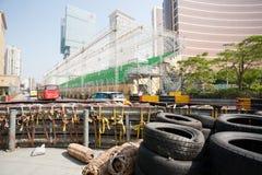 Schutzeinrichtung entlang installiert für das Laufen von Macao G Lizenzfreies Stockbild
