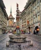Schutzenbrunnen fountain in downtown Bern, Switzerland Stock Photo