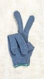 Schutzhandschuhe grau Stockbild