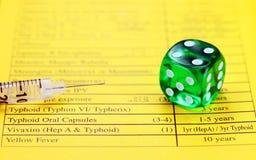 Schutzimpfungs-Glücksspiel Stockfoto