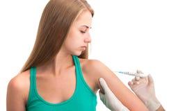 Schutzimpfungsschuß Stockbild