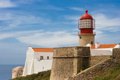 Schutzkappe bei Algarve, Portugal lizenzfreies stockfoto