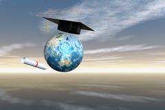 Schutzkappe Diploma1 Lizenzfreie Stockfotos