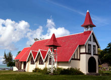 Schutzkappe Malheureux Kirche - Mauritius stockfoto