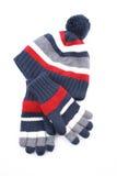 Schutzkappe und Handschuhe stockbild