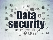 Schutzkonzept: Datensicherheit auf Digital-Papier Stockfotos