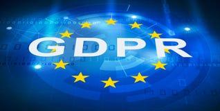 Schutzregelung allgemeiner Daten GDPR stock abbildung