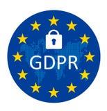 Schutzregelung allgemeiner Daten GDPR lizenzfreie abbildung