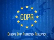 Schutzregelung allgemeiner Daten GDPR Internet-Geschäftssicherheits-Vektorhintergrund lizenzfreie abbildung