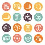 Schutztechnologie und -wolke der kommerziellen Daten Stockfotos