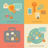 Schutztechnologie und -wolke der kommerziellen Daten Stockbild