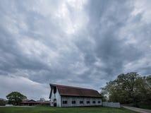 Schuur bij de Biltmore-Landgoederen stock afbeeldingen