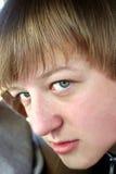 Schuw Profiel Stock Foto