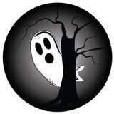 Schuw spook in Halloween Stock Illustratie