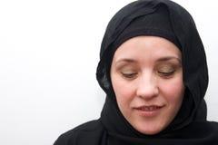 Schuwe moslimvrouw Stock Fotografie