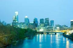 Schuylkill River and city skyline of Philadelphia Stock Photo