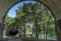 Schuylkill river trail Stock Photo
