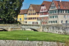 Schwäbisch Hall, Germany. Schwäbisch Hall is historical town in the German state of Baden-Württemberg and located in the valley of the river Kocher stock images