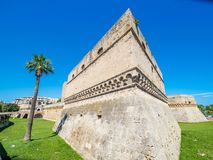 Schwäbisches Schloss, alte Stadt von Bari, Italien stockfoto
