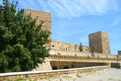 Schwäbisches Schloss oder Castello Svevo, Bari, Apulien, Italien Lizenzfreie Stockfotografie