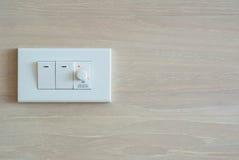 Schwächerer Schalter und Lichtschalter Stockfoto