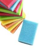 Schwämme für waschende Teller lizenzfreie stockfotos