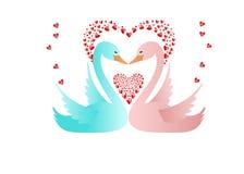 Schwäne in der Liebe stock abbildung