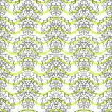 Schwärzen Sie auf eleganter Grenze der Grünstreifen in der modernen Art des Damastes vektor abbildung