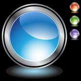 Schwärzen Sie Chrom-Ikonen - decken Sie ab lizenzfreie abbildung