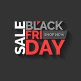 Schwärzen Sie Freitag Große Verkäufe Modisches, modernes Plakat, zum Ihrer Waren zu annoncieren stock abbildung