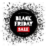Schwärzen Sie Freitag Verkauf 24. November lizenzfreie abbildung