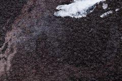 Schwärzen Sie gehämmerten Metallhintergrund, metallische Beschaffenheit der Zusammenfassung, das Blatt der Metalloberfläche gemal lizenzfreie stockfotografie