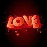 Schwärzen Sie Liebe Stockbild