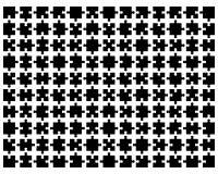 Schwärzen Sie Puzzlespiel Stockbilder