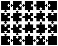 Schwärzen Sie Puzzlespiel Stockfoto