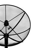 Schwärzen Sie Satellitenschüssel Stockfoto