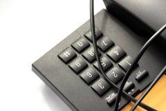 Schwärzen Sie Telefon Lizenzfreie Stockfotografie