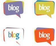 Schwätzchen- oder Blogluftblasen. Lizenzfreie Stockfotos