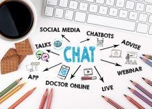 Schw?tzchen, Kommunikations-Digital-Netz und Konzept des Sozialen Netzes stockfoto