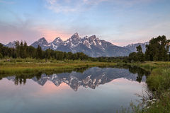 Schwabacher's Landing in Grand Teton National Park, Wyoming Royalty Free Stock Photography