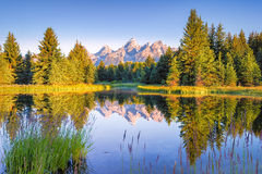 Schwabacher Landing at Daybreak Royalty Free Stock Photography