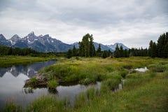 Schwabacher Landing in the Grand Tetons Royalty Free Stock Photo