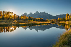 Schwabacher Landing Sunset Royalty Free Stock Images