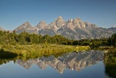 Schwabacher-Landung - großartige Nationalparklandschaft Teton Stockfotos