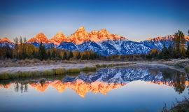 Schwabacher`s Landing, Grand Teton National Park Stock Image